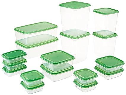 IKEA Pruta plástico recipiente/contenedores de almacenamiento de alimentos (17 piezas Set