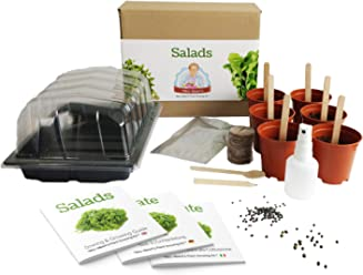 Ensaladas - [Mrs Henris Plant Growing Kit]. Cultiva 6 ensaladas ...