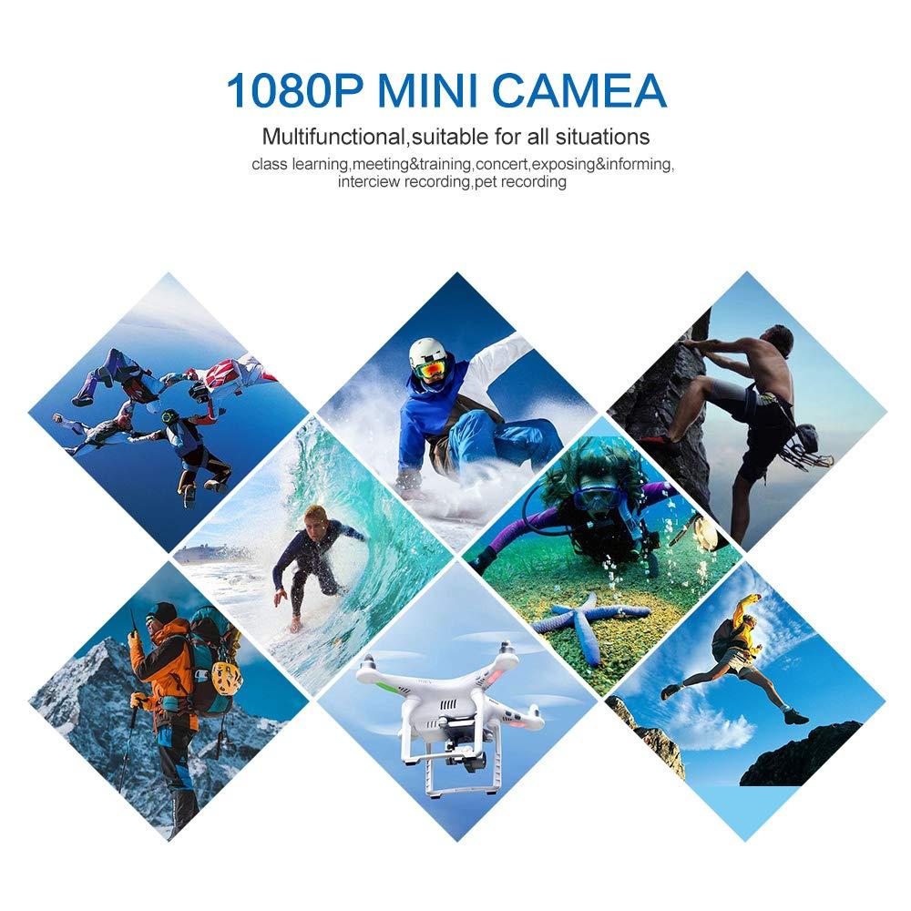 SHENGNONG Telecamera Portatile HD 1080P Senza Barre Colorate Telecamera di Sicurezza per Interni ed Esterni Video per Auto Telecamera per la Rilevazione del Movimento Notturno