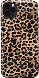 "Hapitek iPhone 11 Pro Max Case, Leopard Cheetah Protective iPhone 11 Pro Max Case Slim Cases Soft Flexible TPU Marble Floral Pattern Protective Cover for Apple iPhone 11 Pro Max 6.5"" (Leopard)"