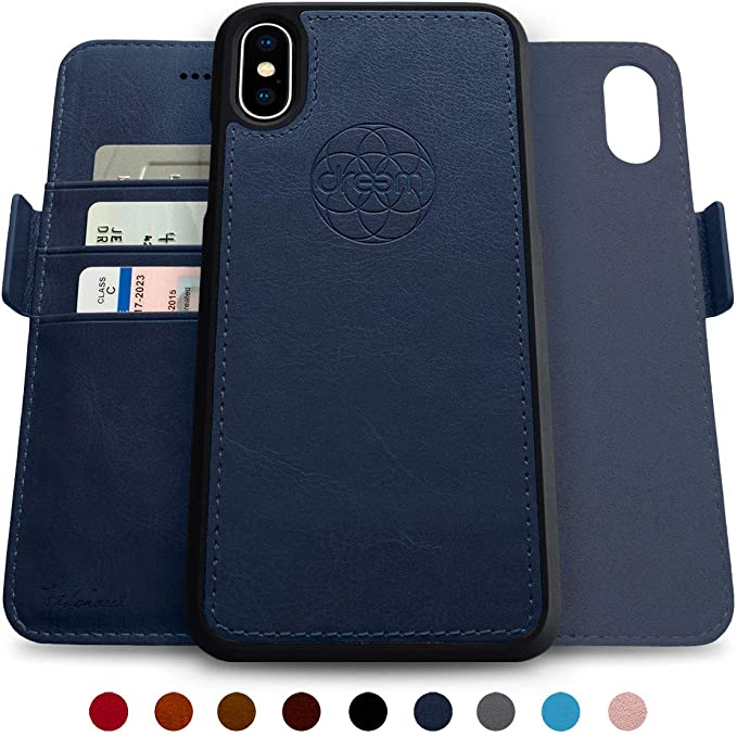 huge discount 8200f 68a8f Dreem Fibonacci 2-in-1 Wallet-Case for iPhone X & Xs, Magnetic Detachable  Shock-Proof TPU Slim-Case, Wireless Charge, RFID Protection, 2-Way Stand,  ...