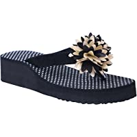 HD Casual Rubber Flip-Flop Slippers for Women Black