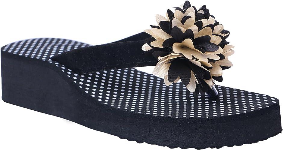 HD Casual Rubber Flip-Flop Slippers for Women Women's Flip-Flops & Slippers at amazon