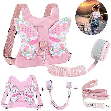 Pink Kids Safety Harness Anti Lost Wrist Strap Leash Baby Walk Child Toddler