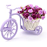 Louis Garden Nostalgic Bicycle Artificial Flower Decor Plant Stand (Purple)