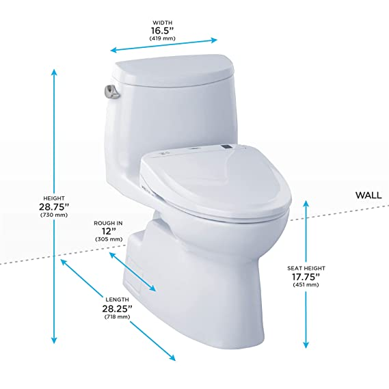 Admirable Toto Mw614584Cefg01 Washlet Carlyle Ii One Piece Elongated 1 28 Gpf Toilet And Washlet S350E Bidet Seat Cotton White Beatyapartments Chair Design Images Beatyapartmentscom