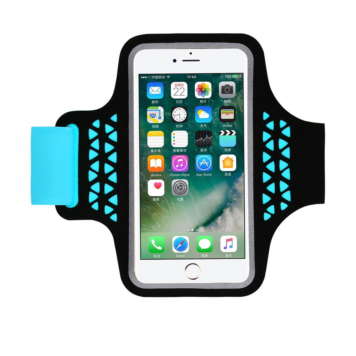 Correa de Brazalete Brazalete Deportivo para Correr Brazalete M/óvil Deportivo Ajustable para iPhone 11 Pro MAX XS MAX XR X Samsung Huawei Ideal para Correr Andar en Bicicleta Senderismo