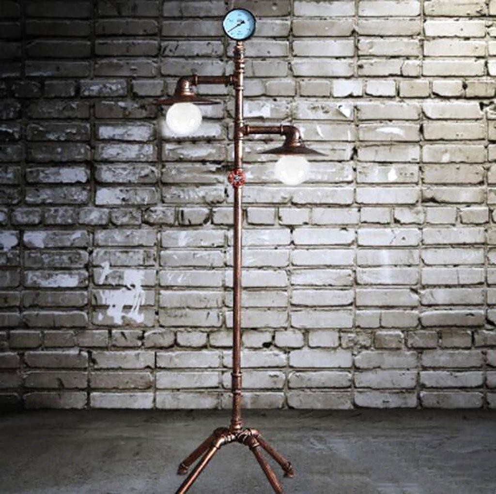 フロアランプ LOFTインダストリアルスタイルフロアランプヴィンテージ錬鉄製フロアランプ装飾金属工芸品L56 * W37 * H143cm 北欧スタイル B07RBM9Y6S