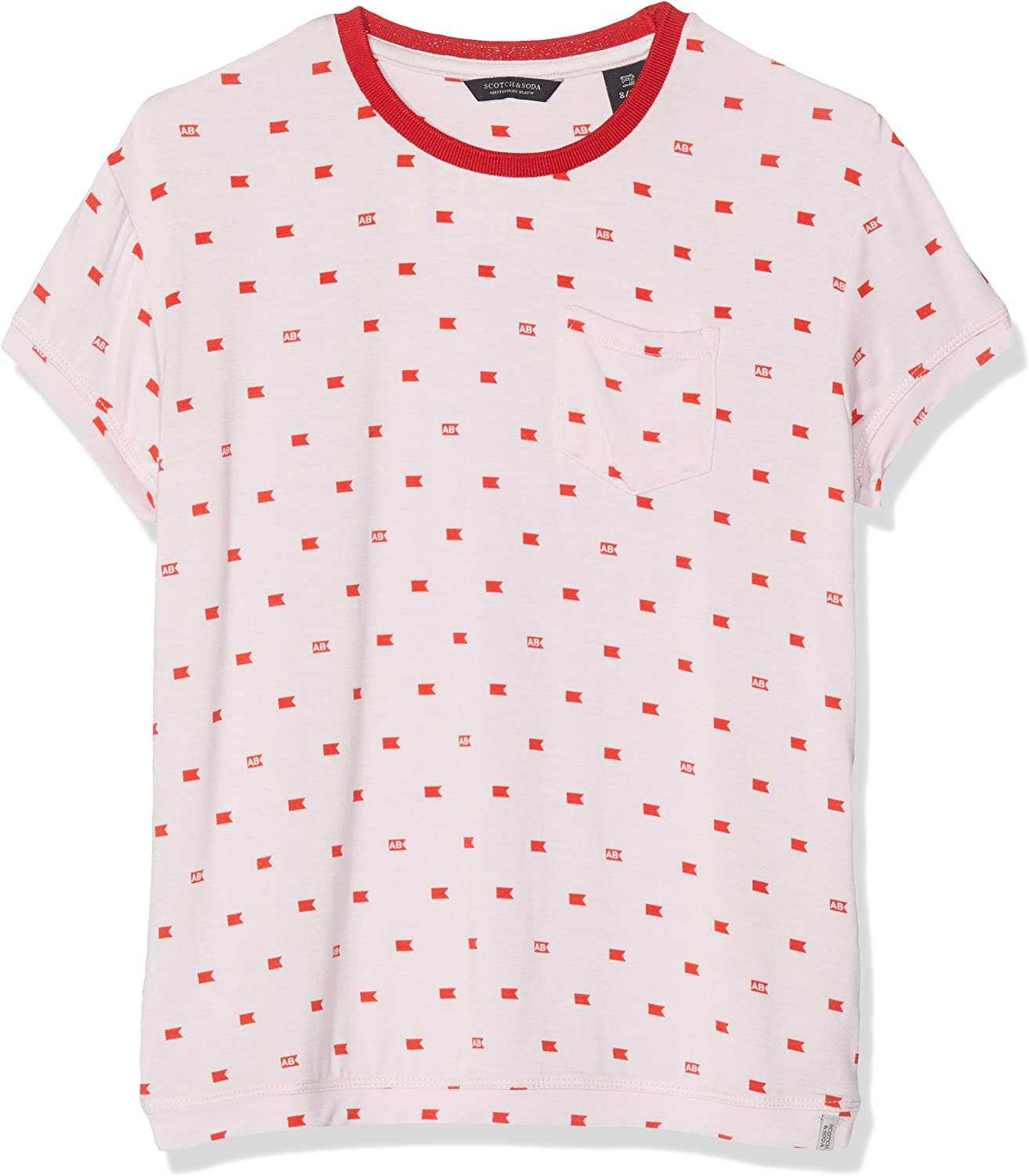 Scotch /& Soda Girls Allover Printed S//S Tee T-Shirt