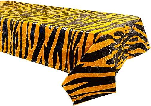 Tiger - Juego de 2 fundas de mesa a rayas, diseño de tigre, para fiestas de circo, mesa de tigre: Amazon.es: Salud y cuidado personal