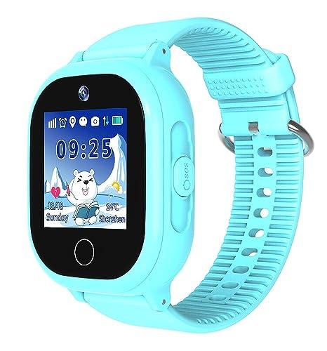 Reloj Inteligente para niños, Impermeable, con rastreador GPS, para niños y niñas,