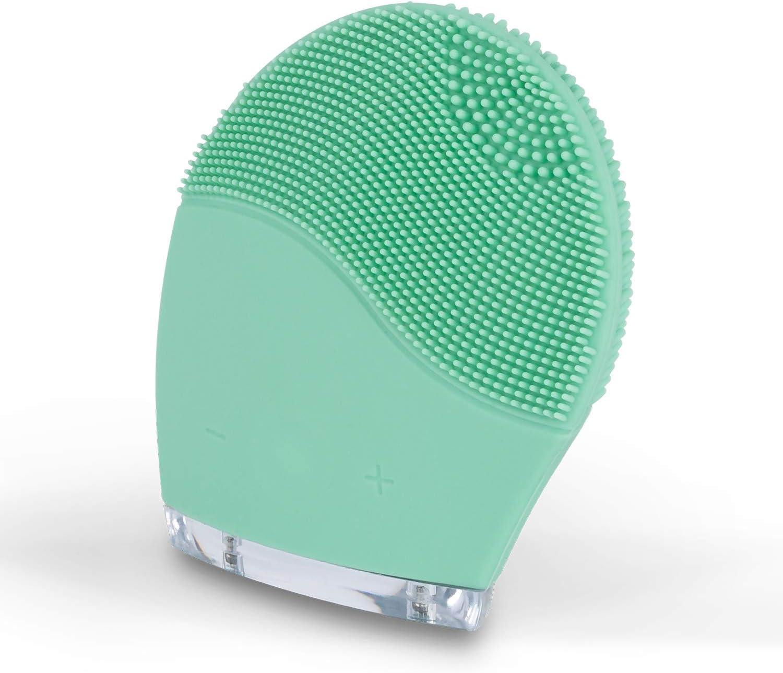 CREATE IKOHS Limpiador facial FACE WAVE - Cepillo Facial de Silicona, Rejuvenece la Piel, Masajeador, para todo tipo de pieles, Tecnología Vibración Sónica (Turquesa)