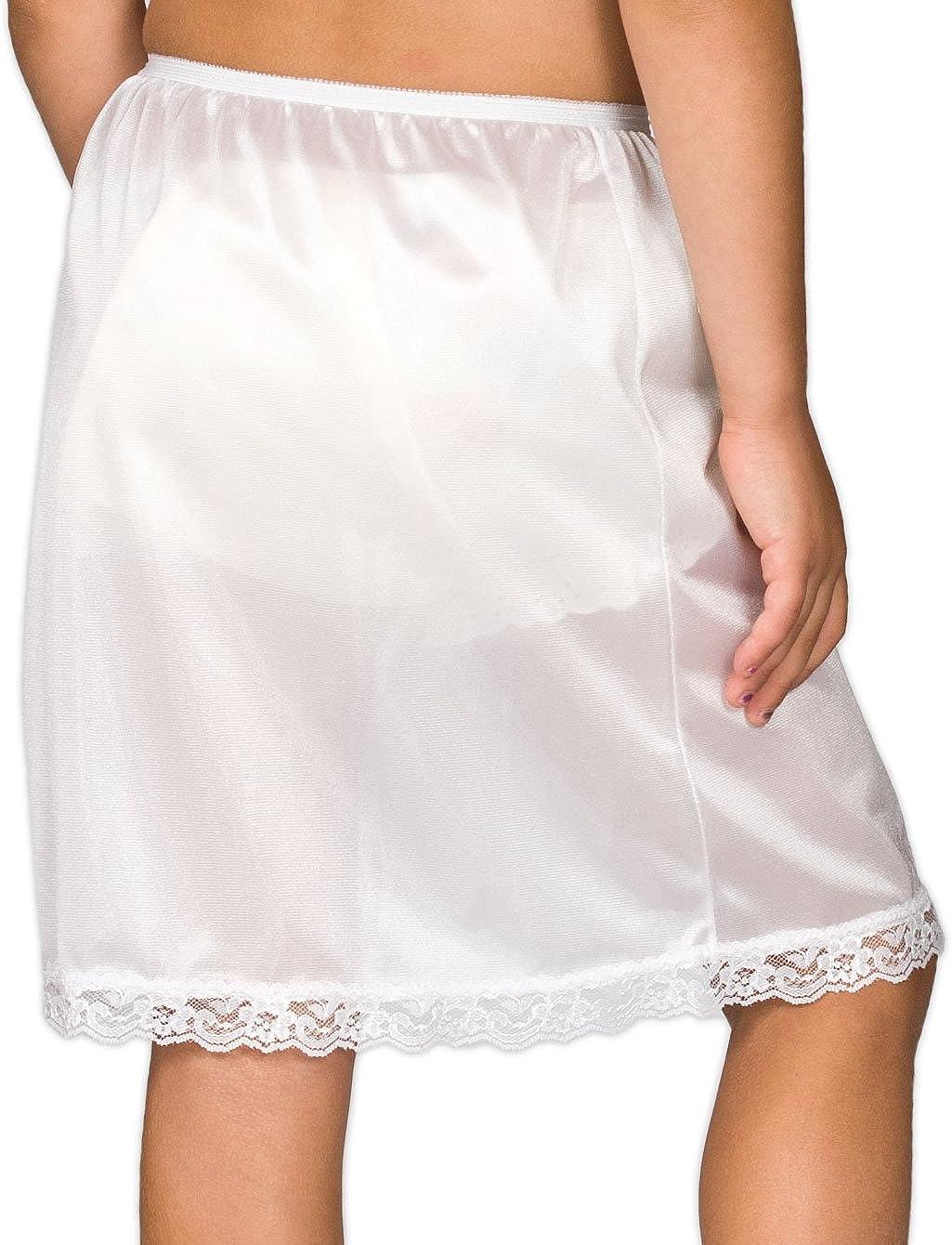 Collections Big Girls White Nylon Half Slip 8-14 I.C