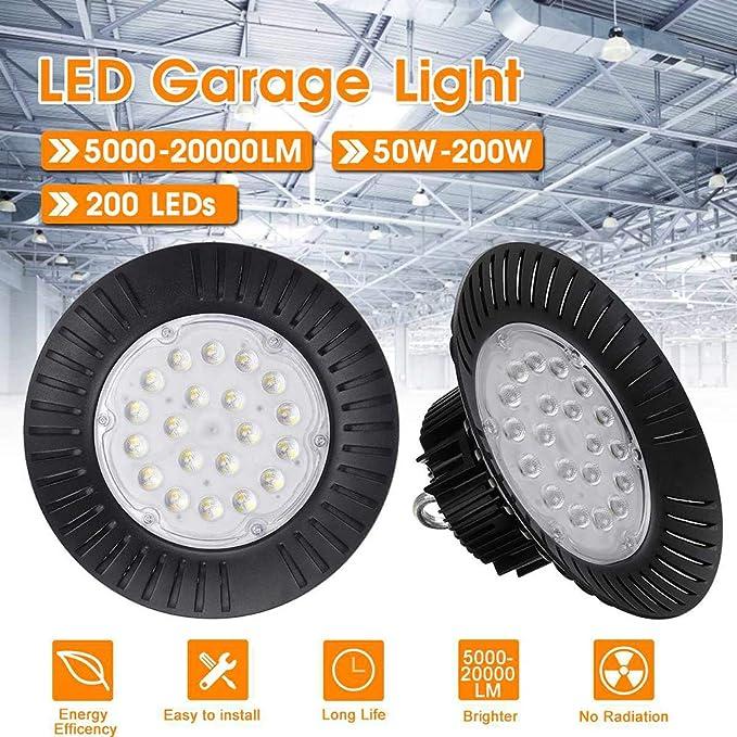 LED High Bay Light 50W 100W 150W Industrial Warehouse Workshop Garage Lighting