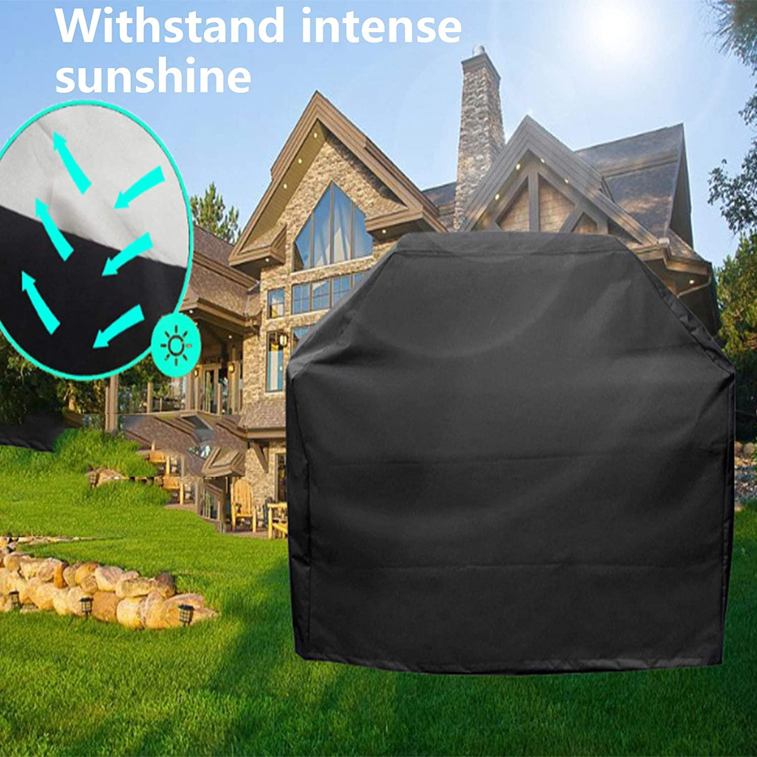 ZJERTF Gas Outdoor Grill Cloth Cover Barbecue Grill Cloth Cover Grill Cover Barbecue Cover Outdoor BBQ Cover Barbecue Grill Cover for Barbecue grill Covering Outdoor Items Rectangle 80x66x100cm