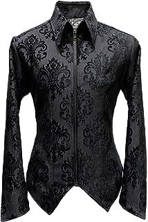 Shrine Mens Victorian Gothic Steampunk Formal Tuxedo Shirt Vintage Black