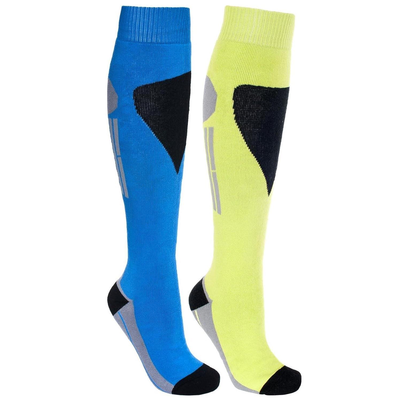 Trespass Herren Shack Ski-Socken, lange Länge, zweifarbig