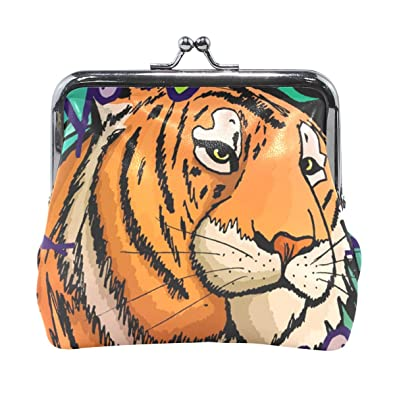 Amazon.com: Vipsk Tiger In The Jungle - Monedero con diseño ...