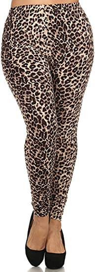 Womens Animal Aztec Print Long Full Stretch Fit Ladies Leggings Pants Plus Size