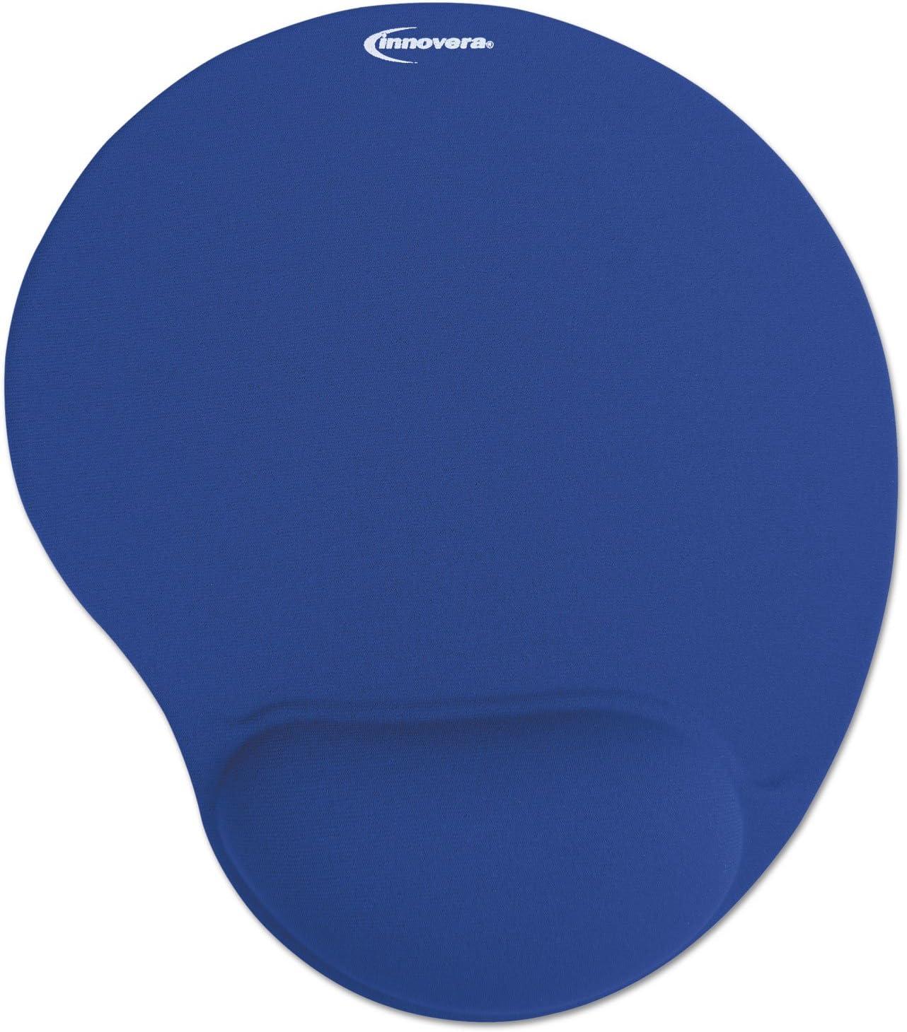 Innovera Mouse Pad w//Gel Wrist Pad Nonskid Base 10-3//8 x 8-7//8 Blue