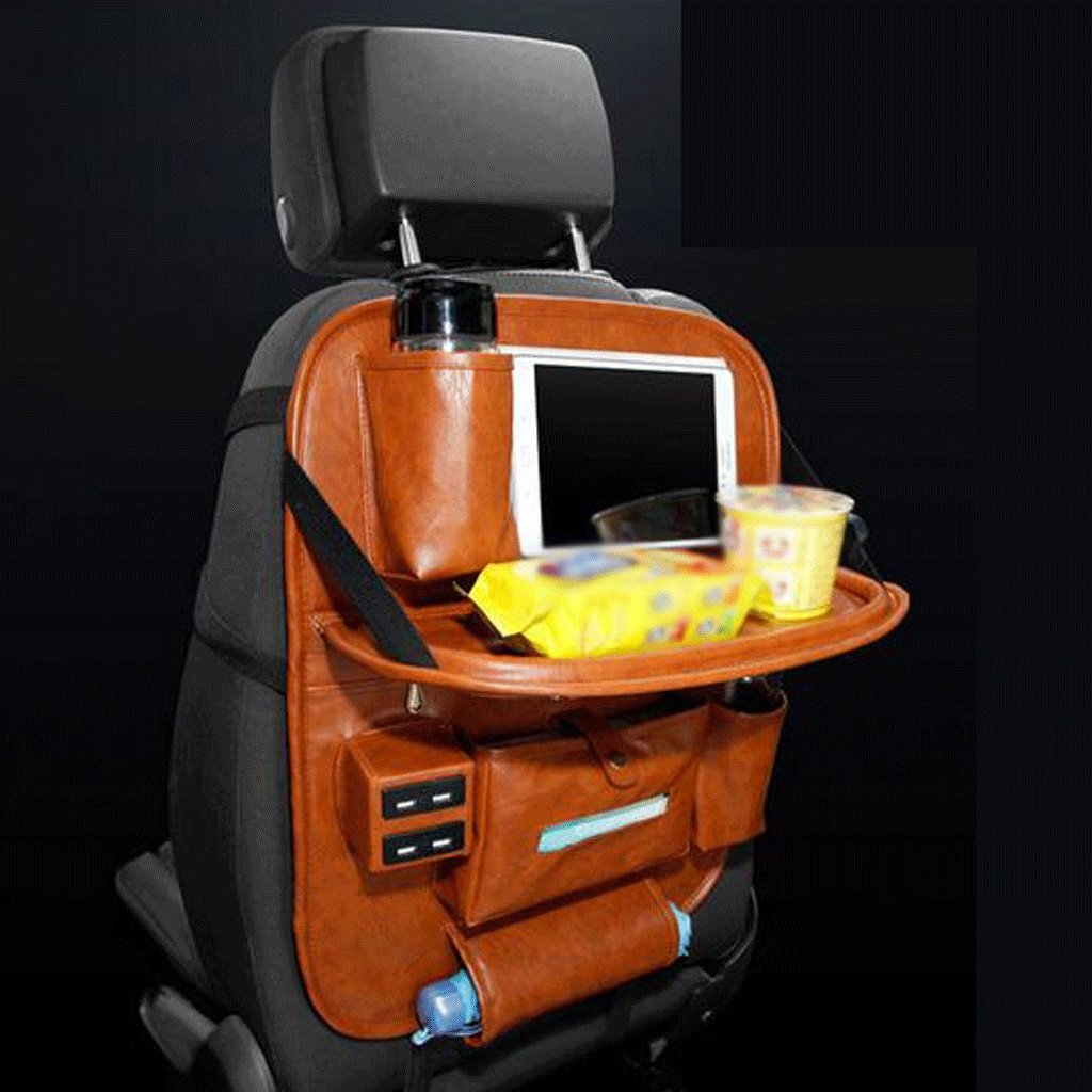 GAOLILI シート収納袋多機能サスペンションダイニングテーブルチェアバックハンギングバッグ収納袋収納袋収納袋をUSB充電口に収納する (色 : ブラウン ぶらうん) B07DNT31V2 ブラウン ぶらうん ブラウン ぶらうん