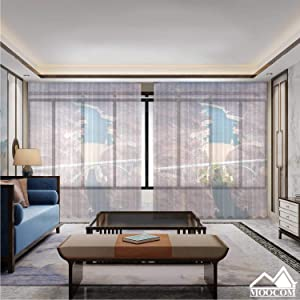 MOOCOM an Aerial Shot of The Hoover Dam and Lake Mead,Curtains 63 inch Length Living Room Curtain Rod 118'' W x 106'' H
