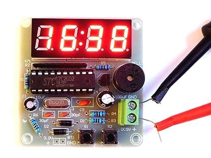 Universal-Solder / CANADUINO Módulo LED Reloj Digital, Alarma Dual, función de Contador