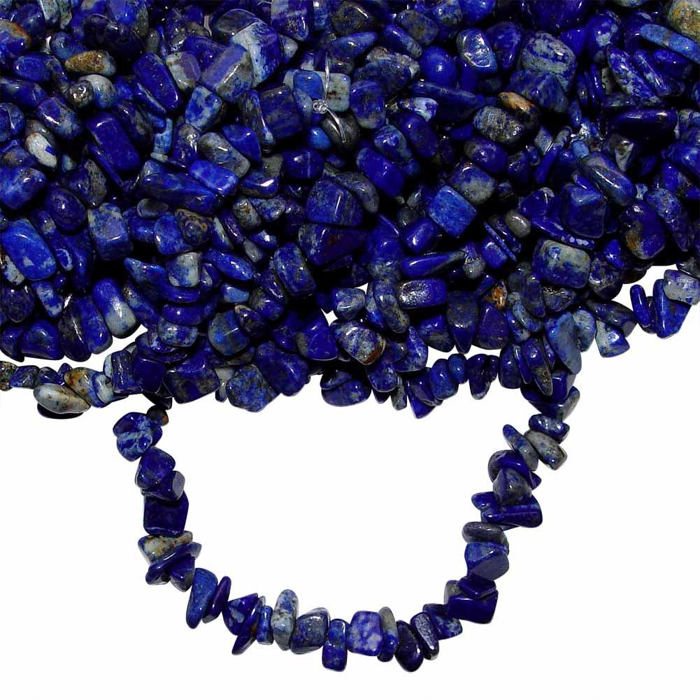 Lapis Lazuli Splitter Armband sch/önes blau mit Einschl/üssen ca 20 cm elastisch aufgezogen. 3385