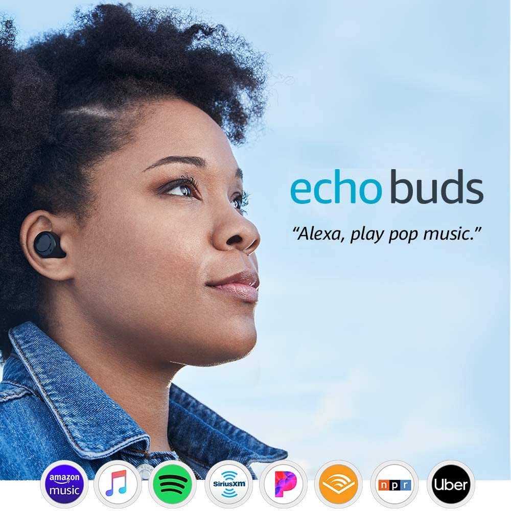 Echo Buds – Wireless earbuds with immersive sound, active noise reduction, and...