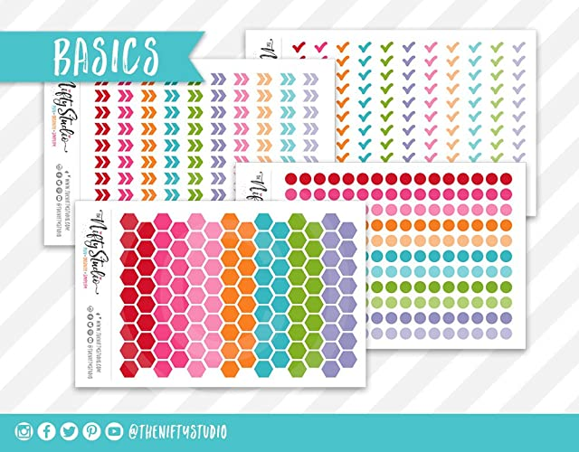 Planner Stickers Bundle Kit Basics | Planner Sticker Kit | The Nifty Studio | Planner Stickers | Stickers for planners | Calendar Stickers | Agenda ...