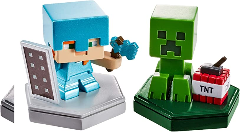Minecraft Boost Pack de 2 Minifiguras Alex y Creeper (Mattel GKT43): Amazon.es: Juguetes y juegos
