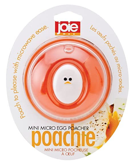 Joie Escalfador de Huevos microondas, Amarillo y Blanco, 8x5.7x8 cm