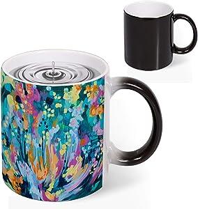 Magic Mug Heat Sensitive Midnight Garden Funny Color Changing Coffee Mug Cup 11 OZ