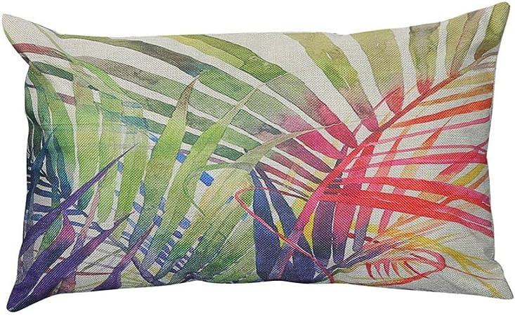 Fossrn Fundas de Cojines Almohada Tropical Hojas Funda de Cojines para Sofa Jardin Cama Decorativo - 30x50 cm (C): Amazon.es: Hogar