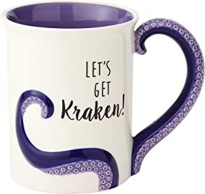 "Enesco 6000550 Our Name Is Mud ""Kraken"" Stoneware Sculpted Coffee Mug, 16 oz, Purple"