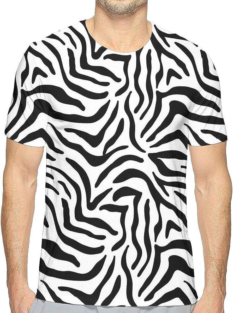 Camiseta de algodón con Textura de Piel de Cebra de Manga ...
