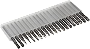 Carbide Burrs Set JESTUOUS 1/8 Shank Diameter Double Cut Tungsten Carbide Burs Rotary File Carving Grinding Bit for Die Grinder Rotary Drill Tool 20pcs