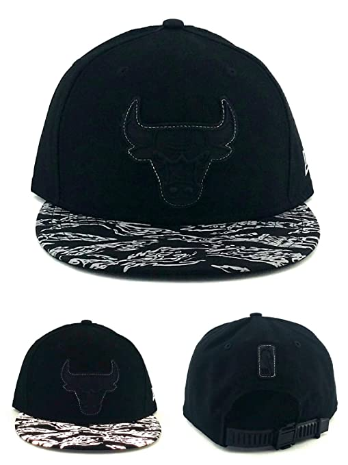 best service 874ce 96824 Image Unavailable. Image not available for. Color  New Era Chicago Bulls  NBA 9Fifty Reflective Black Gray Zipback Snapback Hat Cap