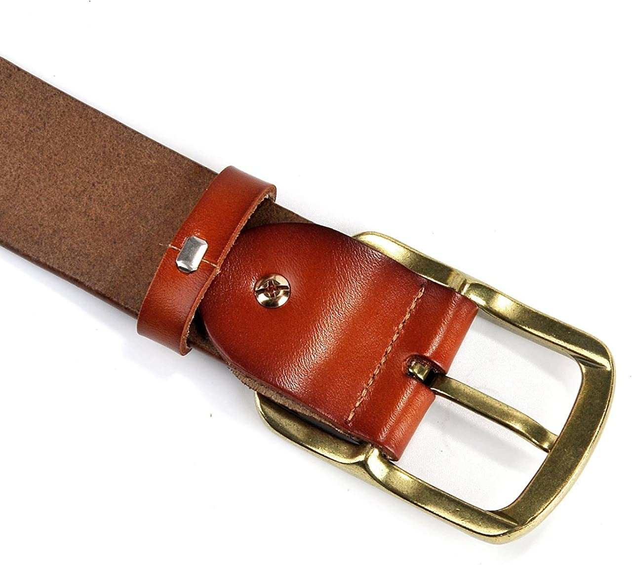 Adjustable Classic Casual Dress Belts for Men FALETO Mens Genuine Leather Belt