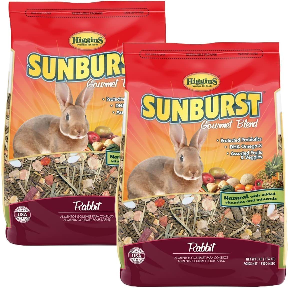 Higgins Sunburst Gourmet Food Mix for Rabbits Net WT 6LB