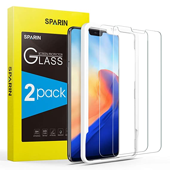 best sneakers 2eb7d 3327a [2 Pack] Screen Protector for OnePlus 6, SPARIN Tempered Glass Screen  Protector for OnePlus 6 (6.28 Inch) - Alignment Frame/Easy  Installation/Highly ...