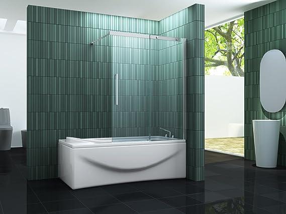 Puerta corrediza de BATCH – Mampara de ducha 120 x 150 (bañera): Amazon.es: Bricolaje y herramientas