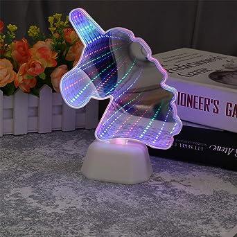 OSALADI 2 piezas led unicorn túnel lámpara decoración lámpara de ...