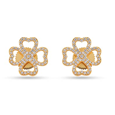 f0d0473212aa2 Buy Tistabene Retails Floral Love Modern Stud Earrings | Gold Plated ...