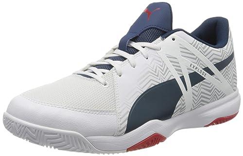White-Dark Denim-high Badminton Shoe