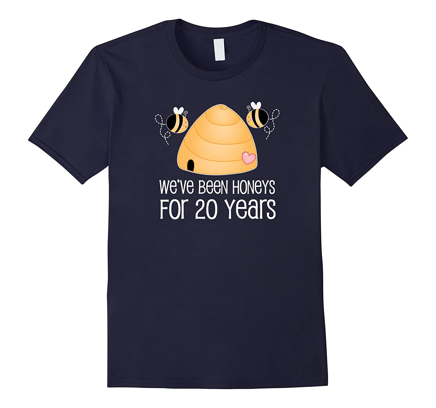 20th Anniversary T-shirt Cute 20 Year Couples Honey Bee Tee-Art