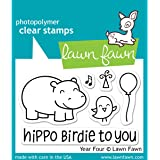 Lawn Fawn Year Four Hippo Birdie Birthday Clear Stamps LF655