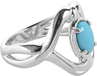 product image for Carolyn Pollack Sterling Silver Sleeping Beauty Turquoise Gemstone Infinity Ring Size 05 to 10
