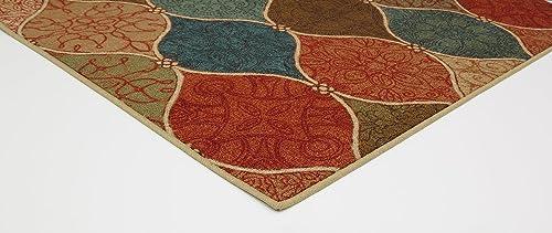 Mohawk Home Soho Riza Tile Fret Ogee Printed Area Rug, 7 6×10 , Multicolor