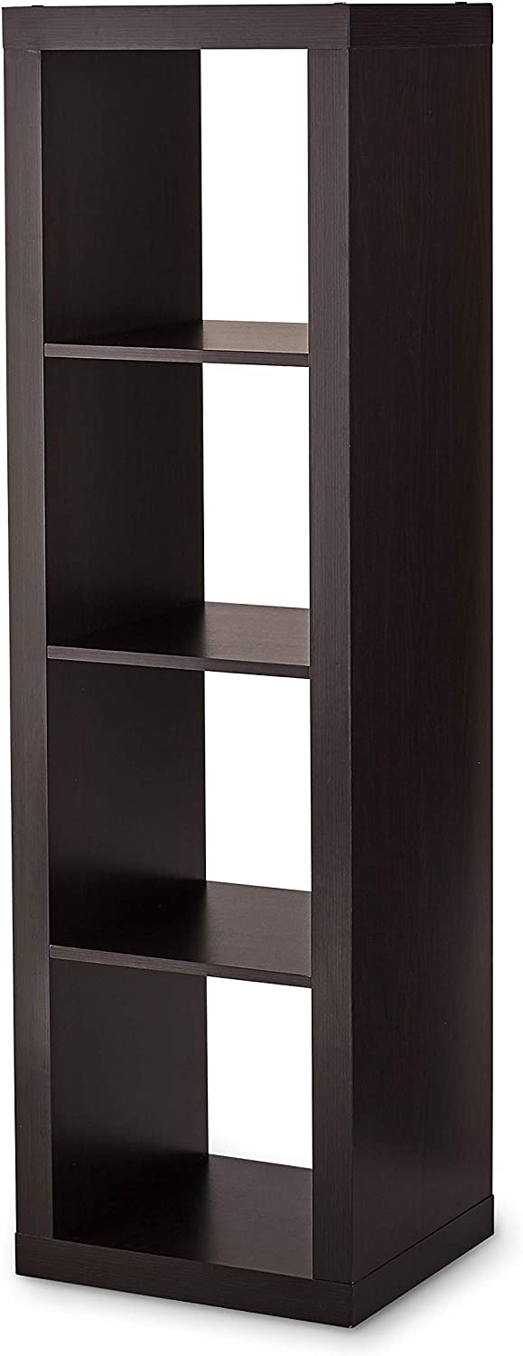 Better Homes & Gardens 4 Cube Storage Organizer, Multiple Colors 1 Pack (Espresso)